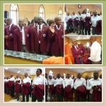19th District, Orangia Conference, Bloemfontein District, Mt. Zion Circuit. Members robbing Connectional Uniform.